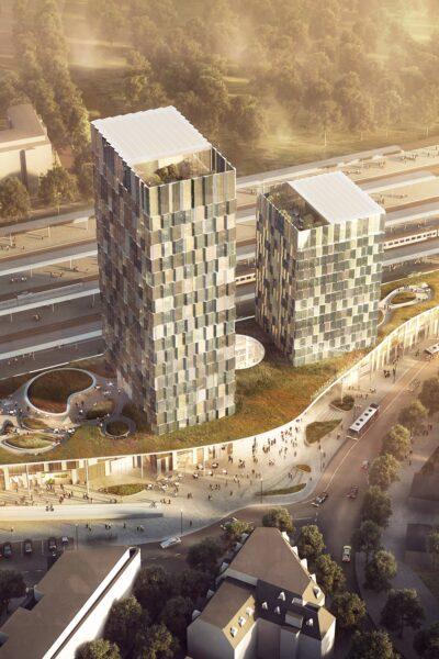 Das Bild zeigt, wie der BAhnhof Diebsteich in Zukunft aussehen soll