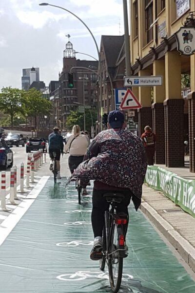 Temporäre Protected Bike Lanes